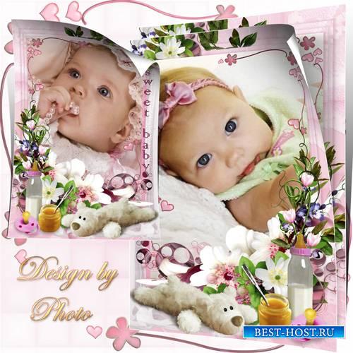 Детская рамка - Лапочка-дочка