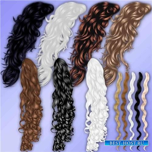 Клипарт для фотошопа – Волнистые локоны волос