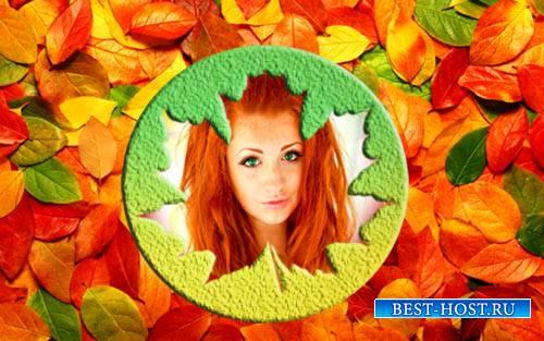 Рамка для фотошопа - Волшебная осень