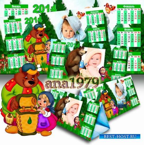 Календарь на 2014 год - Маша и Медведь