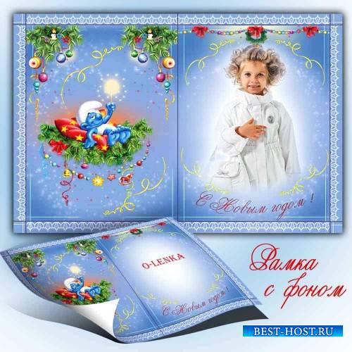 Рамка для фотошопа - Новогодняя открытка