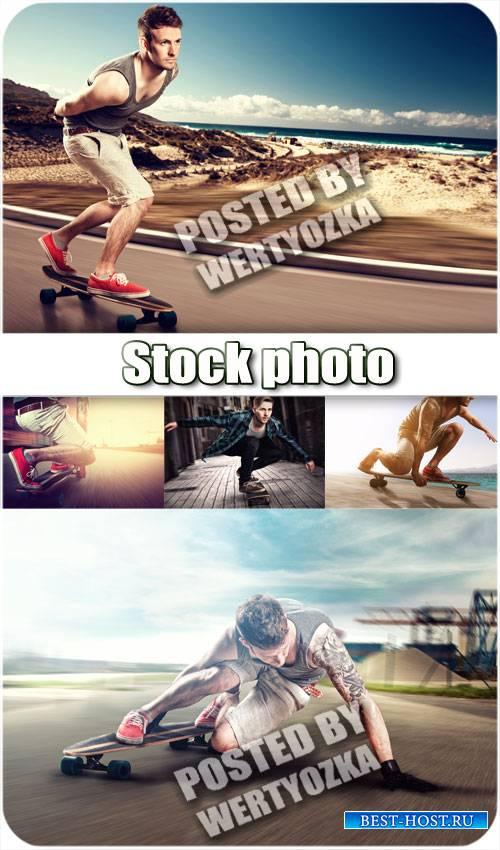 Скейтбординг, экстремальный вид спорта / Skateboarding, extreme sport - sto ...