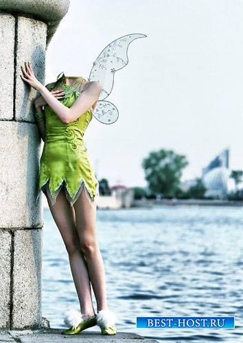 Шаблон для фотомонтажа - Фея из сказки в людском мире