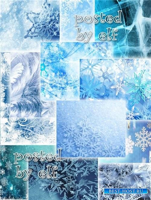 Набор фонов на зимнюю тему - Зимние красоты