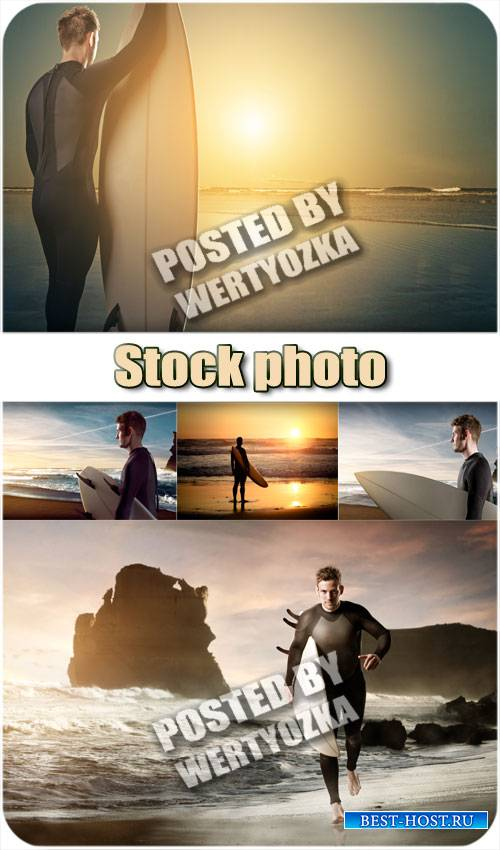Серфингист, спорт / Surfer, sports - stock photos