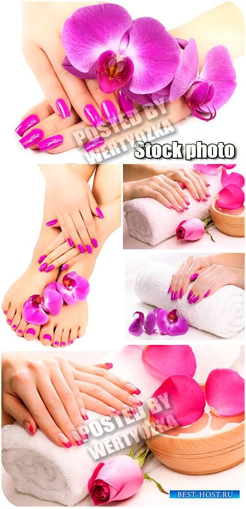Ногти, маникюр и педикюр / Nails, manicures and pedicures - stock photos