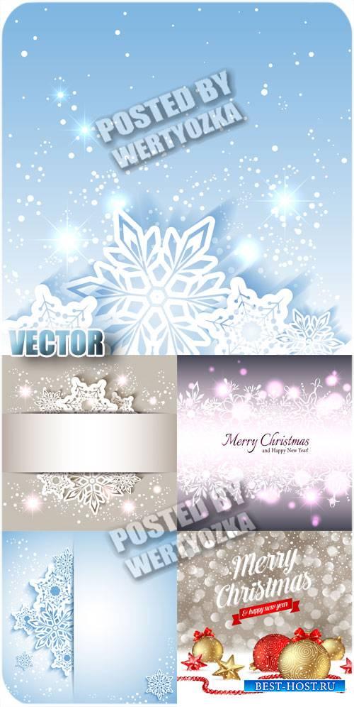 Сверкающие снежинки / Sparkling snowflakes - stock vector