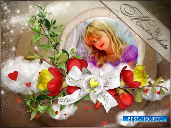 Фотошоп рамка детская - Облака радости