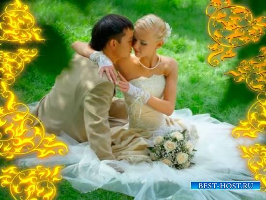 Романтический футаж прекрасный - Врата из золота