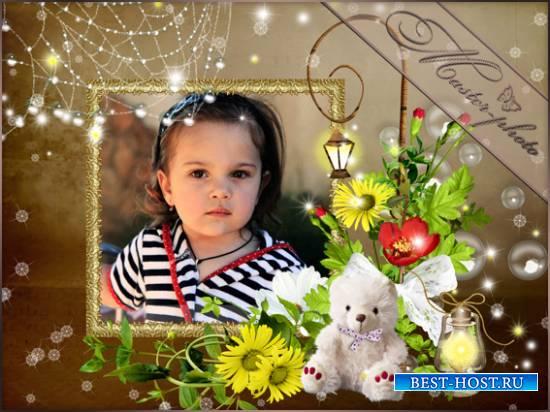 Фотошоп рамка детская - Фонарики яркие