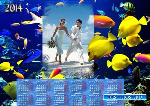Календарь под фото - Наш водный мир