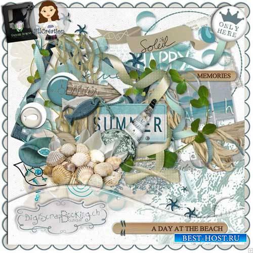 Морской скрап-комплект - День на пляже