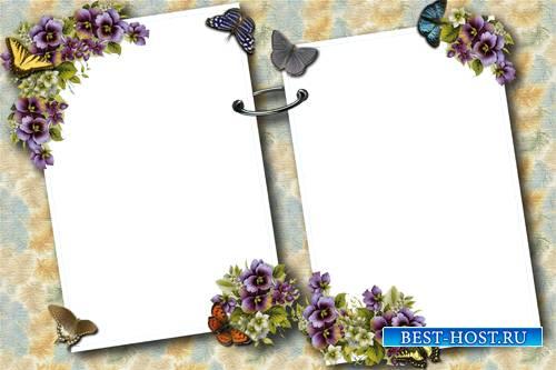 Цветочная рамка для фото - Воспоминание о лете