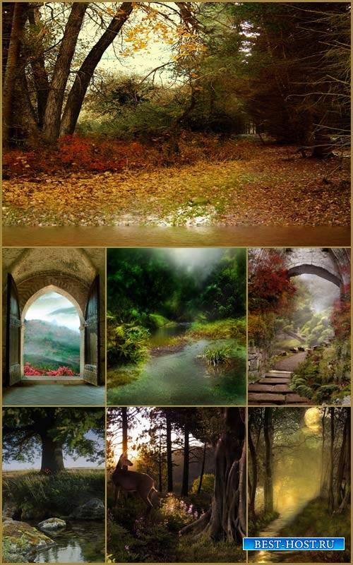Фоны для фотошопа - Сказочный пейзаж 6