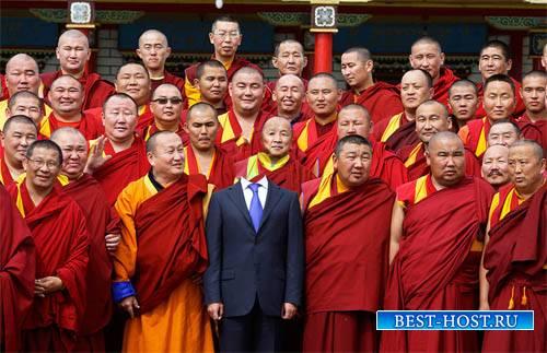 Шаблон для фото - Встреча с монахами