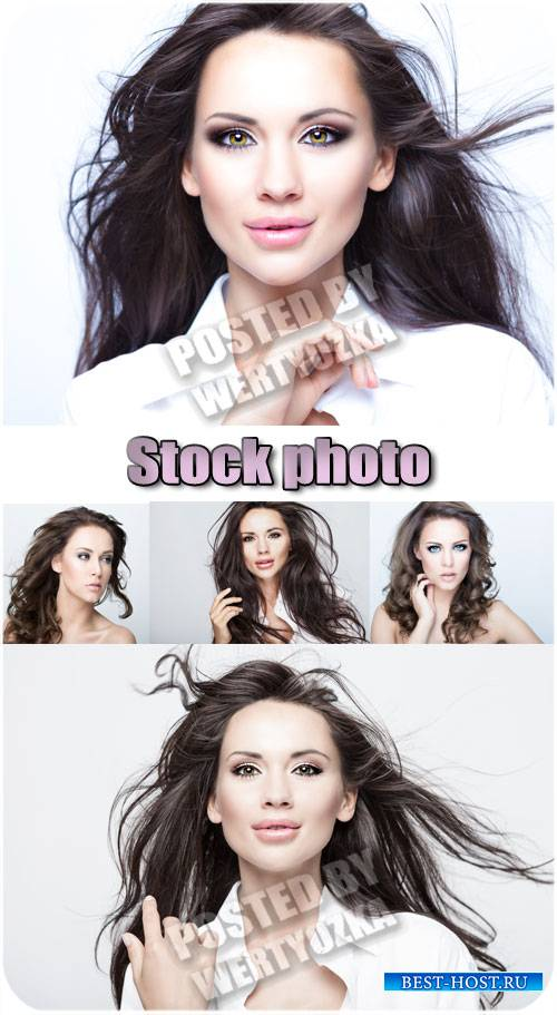Красивые девушки с длинными волосами / Beautiful girl with long hair - stoc ...