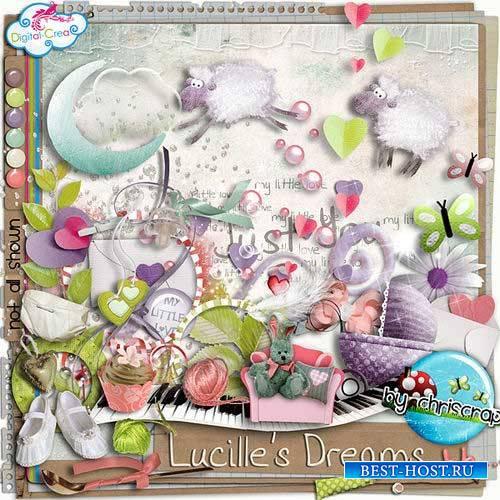 Нежный детский скрап-комплект - Грёзы Люсиль