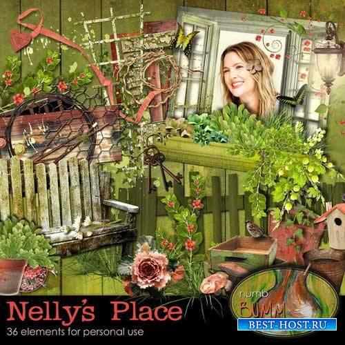 Садовый скрап-комплект - Местечко Нелли