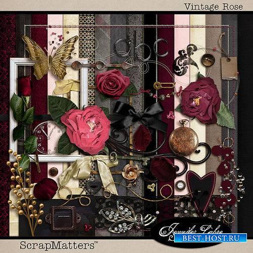 Винтажный скрап-комплект - Винтажные розы