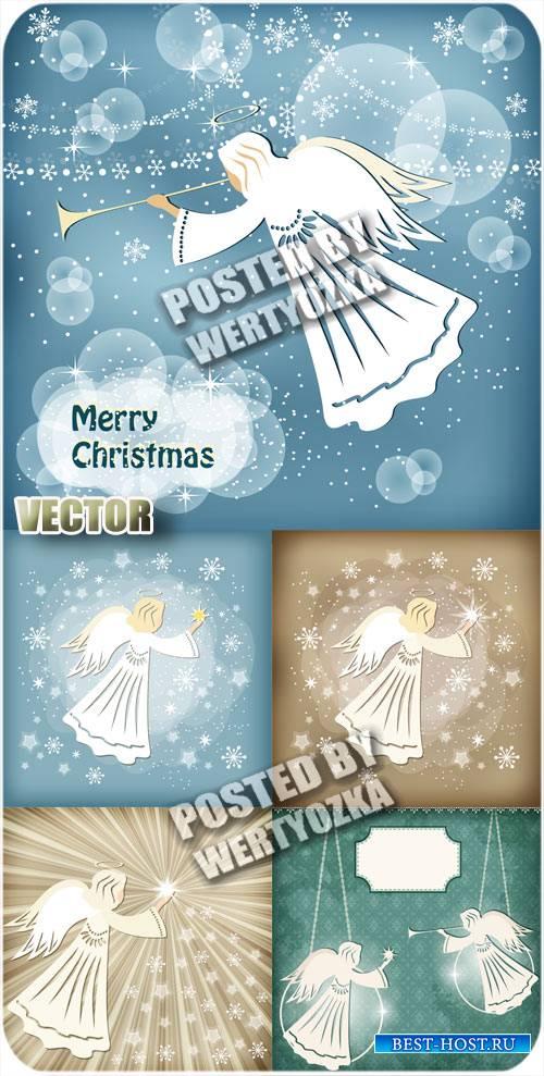 Рождество и ангелы - вектор