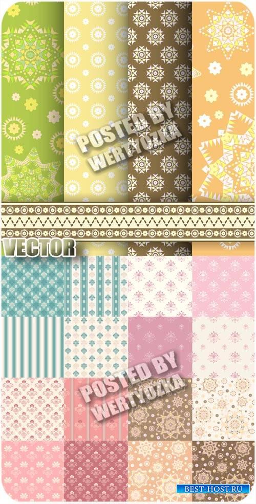 Разноцветные векторные фоны с различными узорами