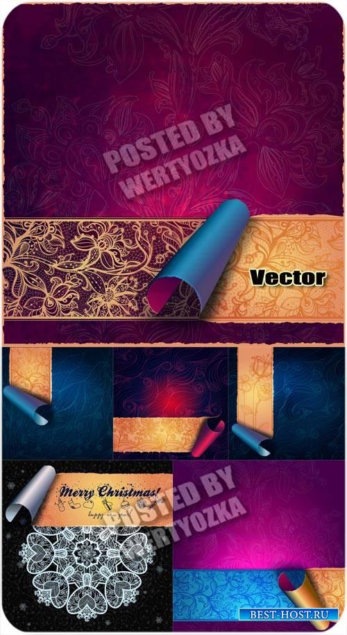 Красивые векторные фоны с золотыми узорами