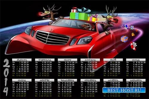 Календарь на 2014 год - Crazy дед Мороз