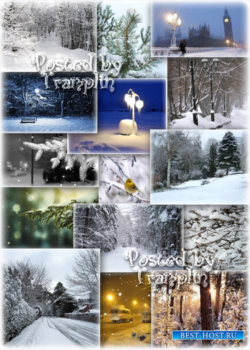 Фоны Снег идет - Родилась снежинка холодной порой