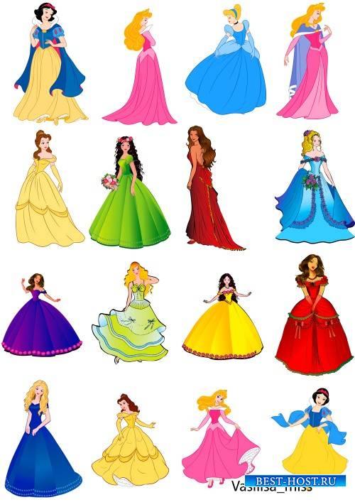 Детский клипарт - Принцессы