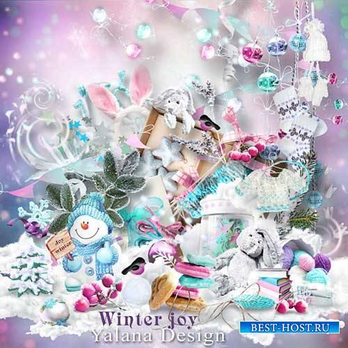 Шикарный зимний скрап-комплект - Зимняя радость