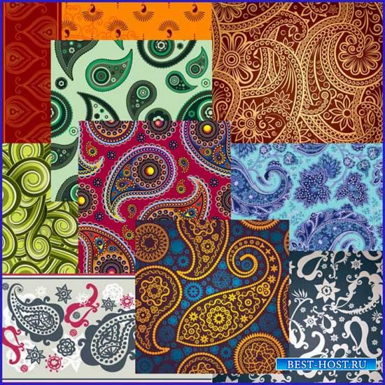 Пейсли или индийский огурец – декоративный орнамент JPG
