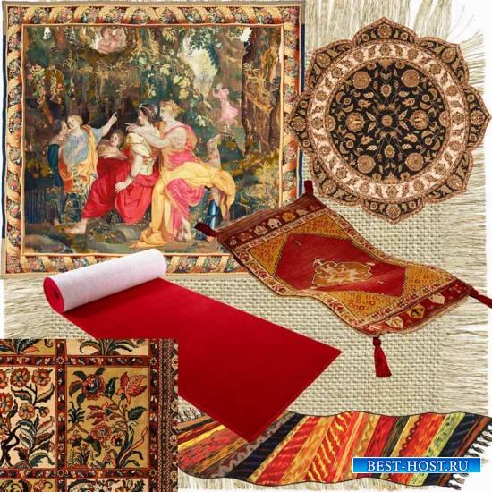 Гобелены, ковры, красные дорожки, паласы – клипарт на прозрачном фоне