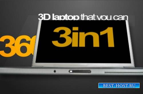 Проект - 3D laptop Title animation для After Effects