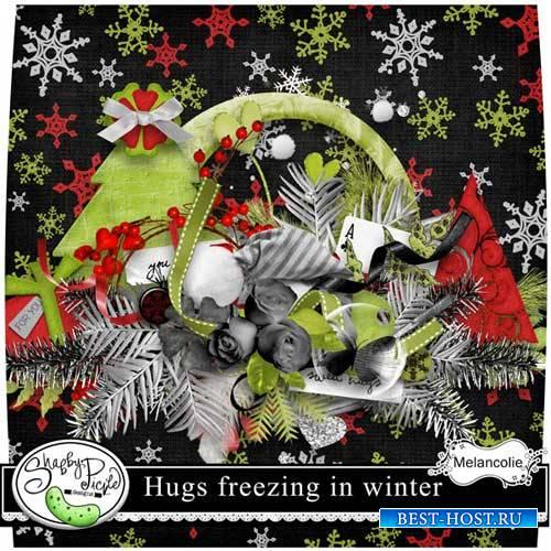 Зимний скрап-комплект - Морозные объятия зимы