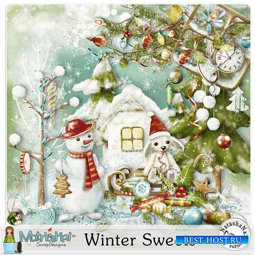 Зимний скрап-комплект - Зимняя сладость
