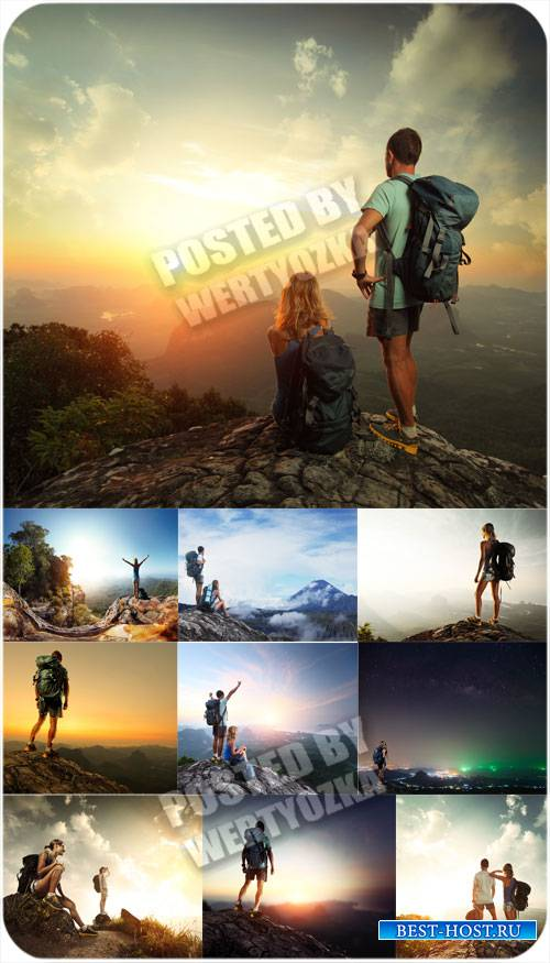Природа и люди, горные пейзажи - сток фото
