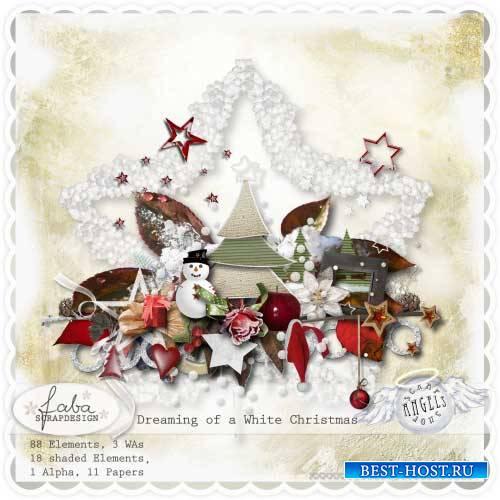 Очаровательный рождественский скрап-комплект - Мечтания о белоснежном Рожде ...