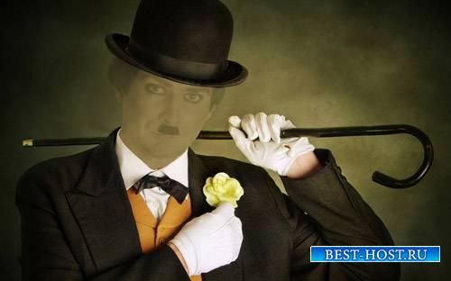 Шаблон для фотошопа - В старинном костюме Начало XX века