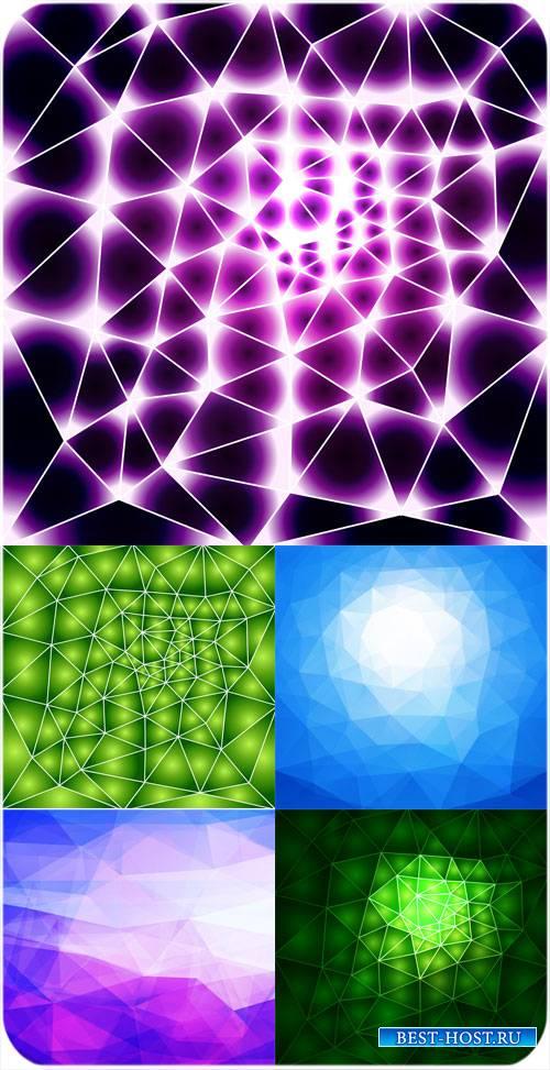 Абстрактные сияющие векторные фоны
