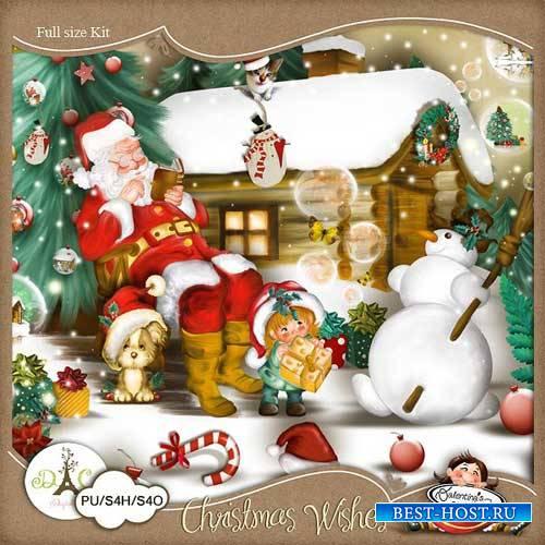Рождественский скрап-комплект - Пожелания на Рождество