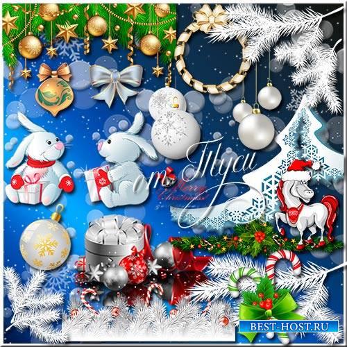 Новогодний клипарт - Белая сказка