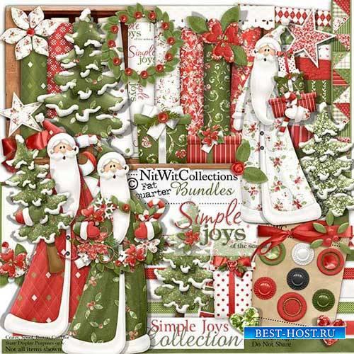 Зимний скрап-комплект - Простые радости