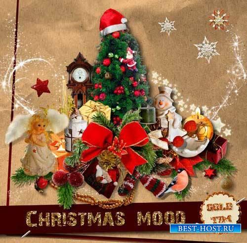 Яркий новогодний скрап-комплект - Новогоднее настроение