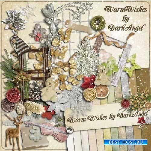 Зимний скрап-комплект - Добрые пожелания