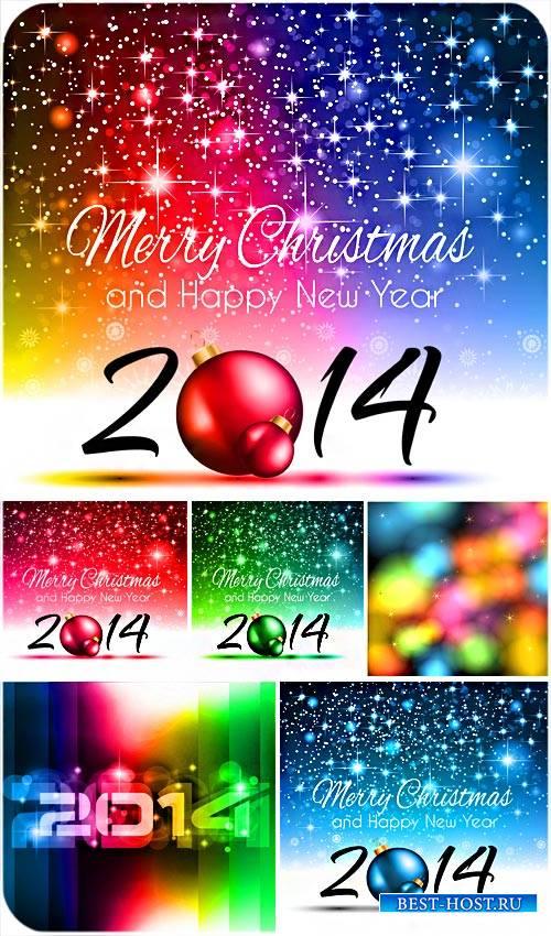 Рождественские фоны 2014 с яркими блестками