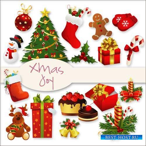 Рождественский скрап-комплект - Радость Рождества