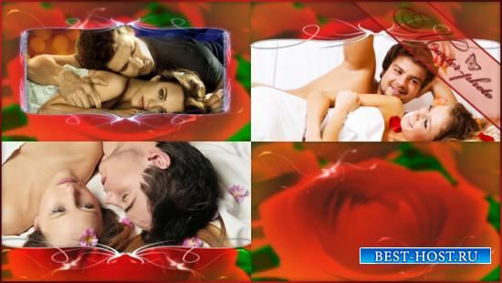 Романтический футажей набор - Красные розы