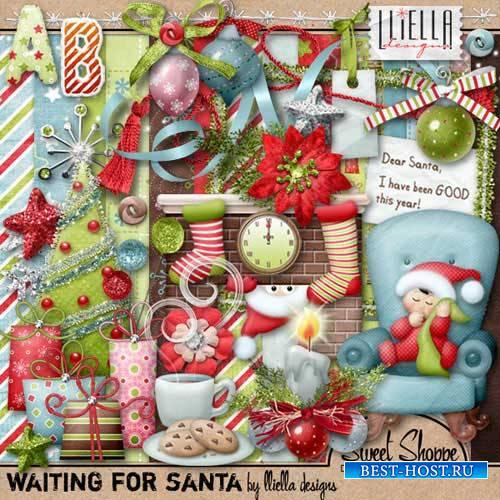 Детский рождественский скрап-комплект - В ожидании Санты