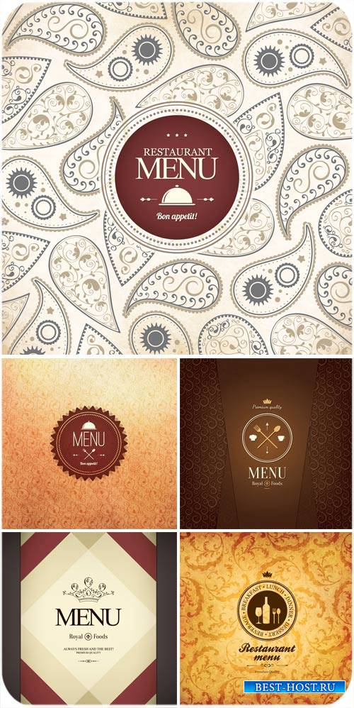 Vector menu backgrounds , vintage patterns