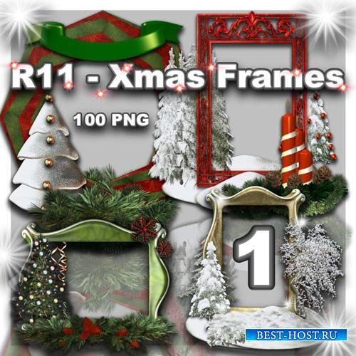 Клипарт PNG - Новогодние и Рождественские рамки